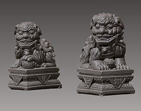 Guardian Lions Couple 3D printable model