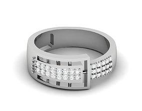 Women bride band ring 3dm render detail printable