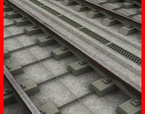 station 3D model Railway Track