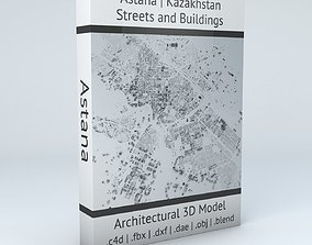 3D model Astana Streets and Buildings