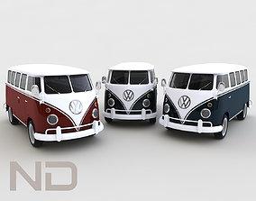 Volkswagen T1 Deluxe Bus 3D Model