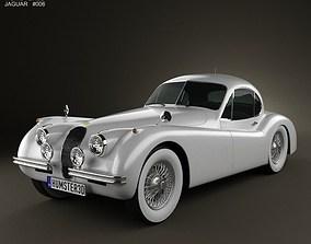 Jaguar XK120 coupe 1953 3D