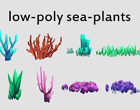 seaweed coral underwater plant aquatic 3D asset