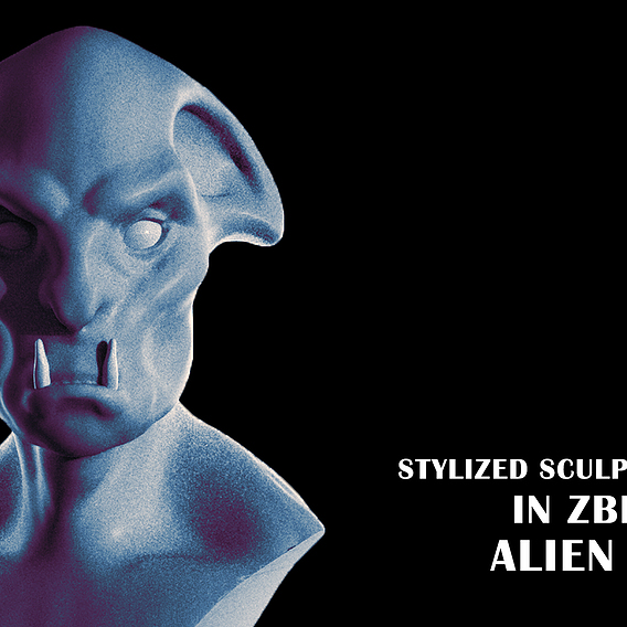 Creature head sculpting tutorial | Stylized sculpting | Zbrush