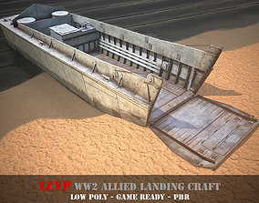 LCVP Landing craft - WW2 Allied boat - Game 3D asset 3