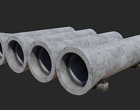 3D Concrete pipes
