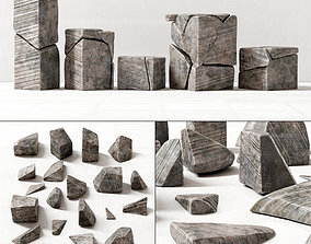 Stone splinters decor 3D model