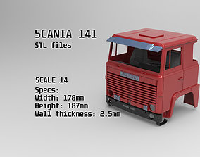 3D printable model Custom Cab Scania 141 truck tamiya 2