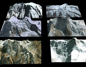 Mountains High resolution 3D model