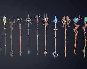 3D model Fantasy Staff Set 05