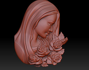 3d 3D printable model the grieving Madonna
