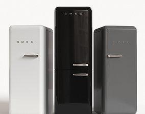architectural Smeg Refrigerator 3D
