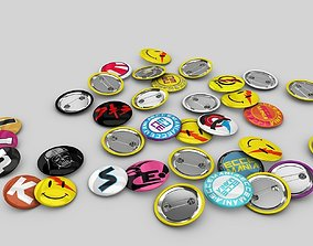 3D model various-models Pin buttons
