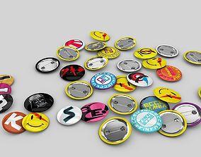 Pin buttons 3D model