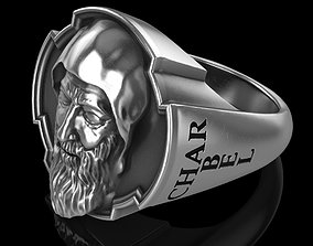 Saint Charbel Makhlouf ring 3D printable model