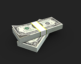 Lowpoly Money pack 3D asset
