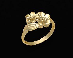 3D printable model 24k Flower Ring 1630