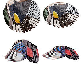 3D model CC-Tapis Feathers and Round carpets