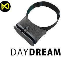 3D model Google DayDream VR Headset Black