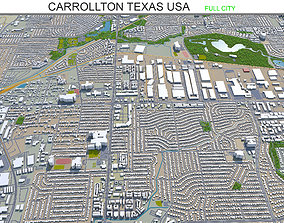 3D asset Carrollton Texas USA 25km
