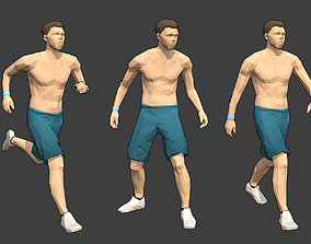 Rigged Lowpoly Male Character - Max 3D asset