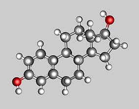 3D model Estradiol molecule