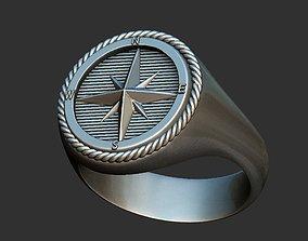 Nautical Star Ring 3D print model