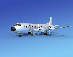 3D model Lockheed L-188 Electra HP Unmarked 5