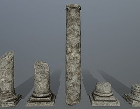 3D model broken pillar arch