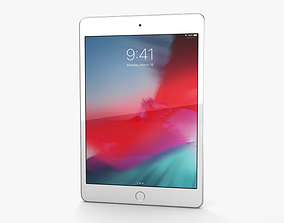 Apple iPad mini 2019 Cellular Silver 3D