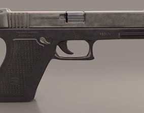 3D asset Gun Glock Low Polygon