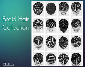 Braid Hairstyle Collection 3D model