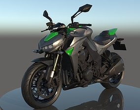 Kawasaki Z1000 3D model PBR