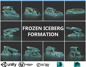 Low poly Big Ice Formation Pack 200928 - Frozen 3D model