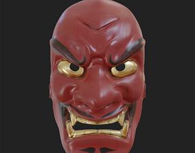 Japanese Mask Shikami Noh theatre mask 3d model