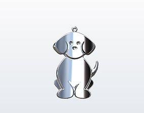 3D printable model Dog pendant