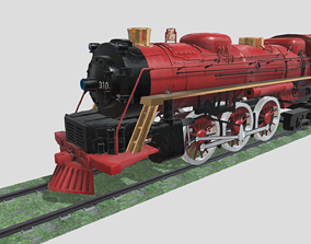 Steam Engine Train Wagon 3D model