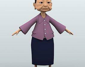 Grandma 3D model character