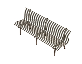 3D printable model Steel bench