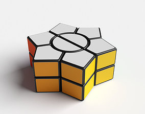 Cube puzzle hexagonal star 3D