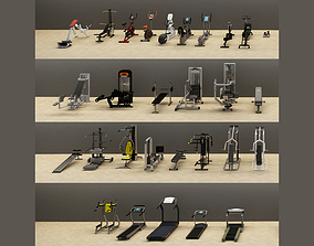 3D asset Massive Gym Equipment Collection