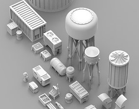 Infrastructure and Objectives Pack 01 3D printable model