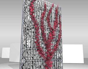 Wild Wine Vine - Autumn - on Gabion Wall 3D model 3