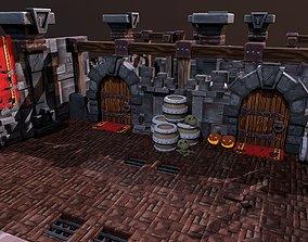 Modular Stylized Handpainted Dungeon 3D asset