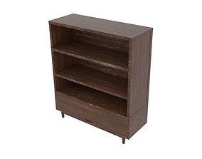 Black Wood Big Cabinet 3D asset
