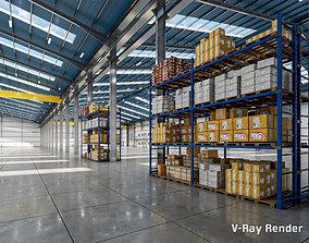 Warehouse interior-exterior 3D