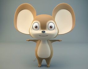 3D asset Cartoon Mouse