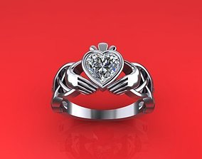 3D printable model Ring heart Irish