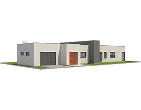 3D asset Modern House 1