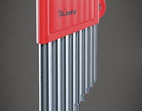 3D Mechanical Tool Torx wrench type L Mtx Kit